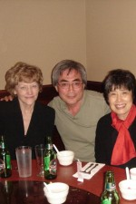 Beer-o'clock with the mesmerizing Nobuko Imai and Sally Chisholm (serious viola power!)