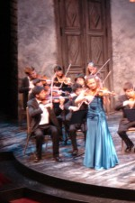 "Performing Bach's E Major concerto on the set of ""Romeo & Juliet"" @ the Ashland Shakespeare Festival!"