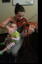Playing an unparalleled fiddle @ Tarisio with the adorable Miss Alma on my lap =)