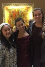 Post-recital in Chicago with the sweet Northwestern ladies, Megan and Ally