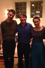 Post-recital with my exquisite recital partners, Roger Moseley and Shane Shanahan (and our dads!)