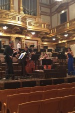 Rehearsing a Zhou Long quartet in the incomparable Musikverein, Vienna