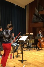 "On tour with ""L'histoire du Soldat"" - rehearsing at Penn State"