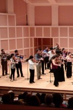 The YNK SSO - a string orchestra of 30 of my father's students, playing Mozart K. 590 in his honor