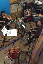 Recording Andy Akiho's new septet for LA Dance with Colin Jacobsen, Mario Gotoh, and Caitlin Sullivan